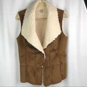 Cremieux Suede Vest Size Small with Pockets